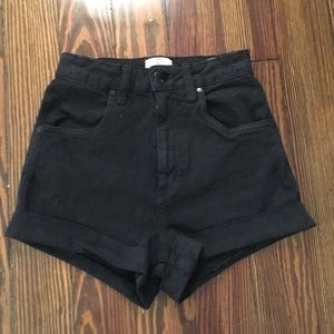 black mom jean shorts